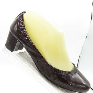 Prada Size 6 M Brown Patent Pumps Womens C2C C1